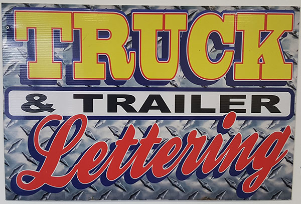 Truck and Trailer Lettering