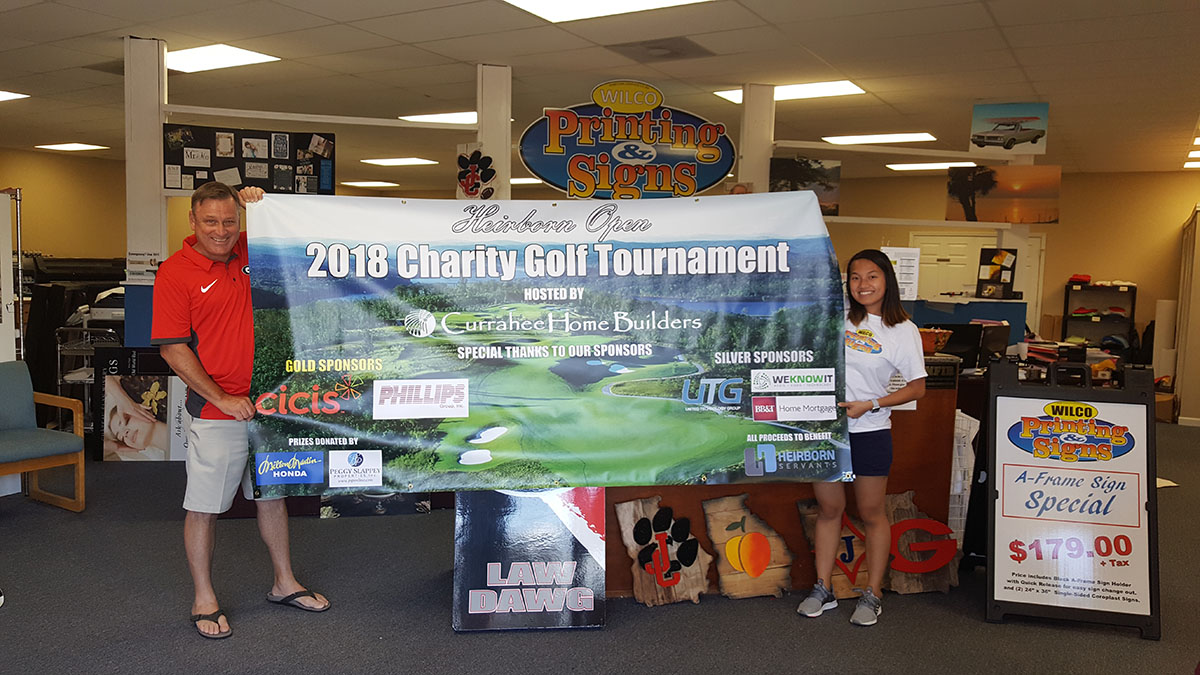 Banner for Golf Tournament