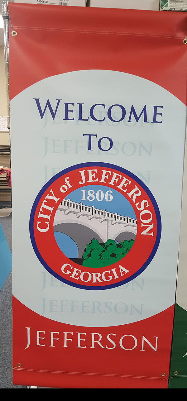 Light Pole Banners for the Citty of Jefferson Georgia