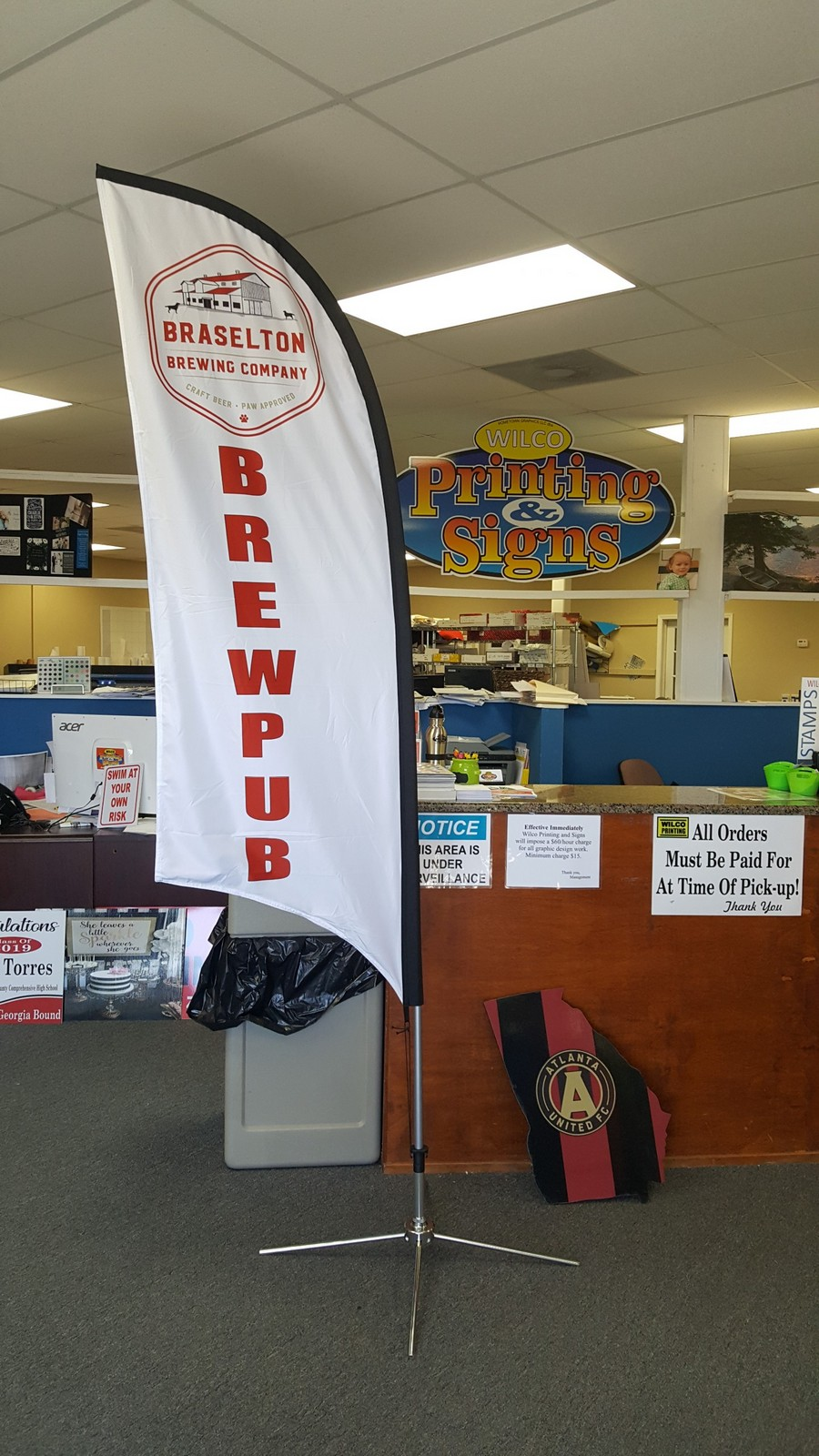 Feather Flags for Braselton Brewery