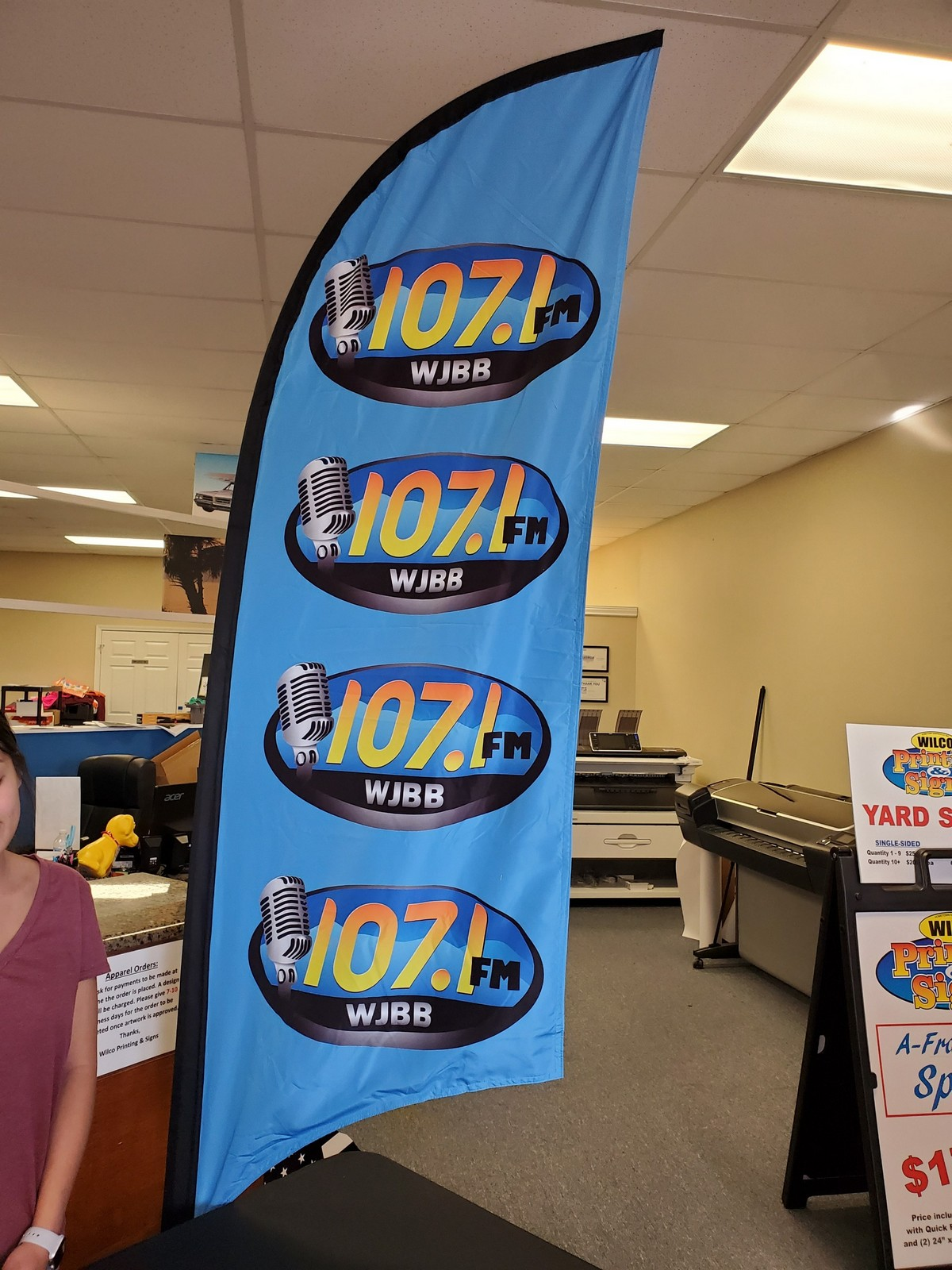 Feather Flag for 107.1 FM