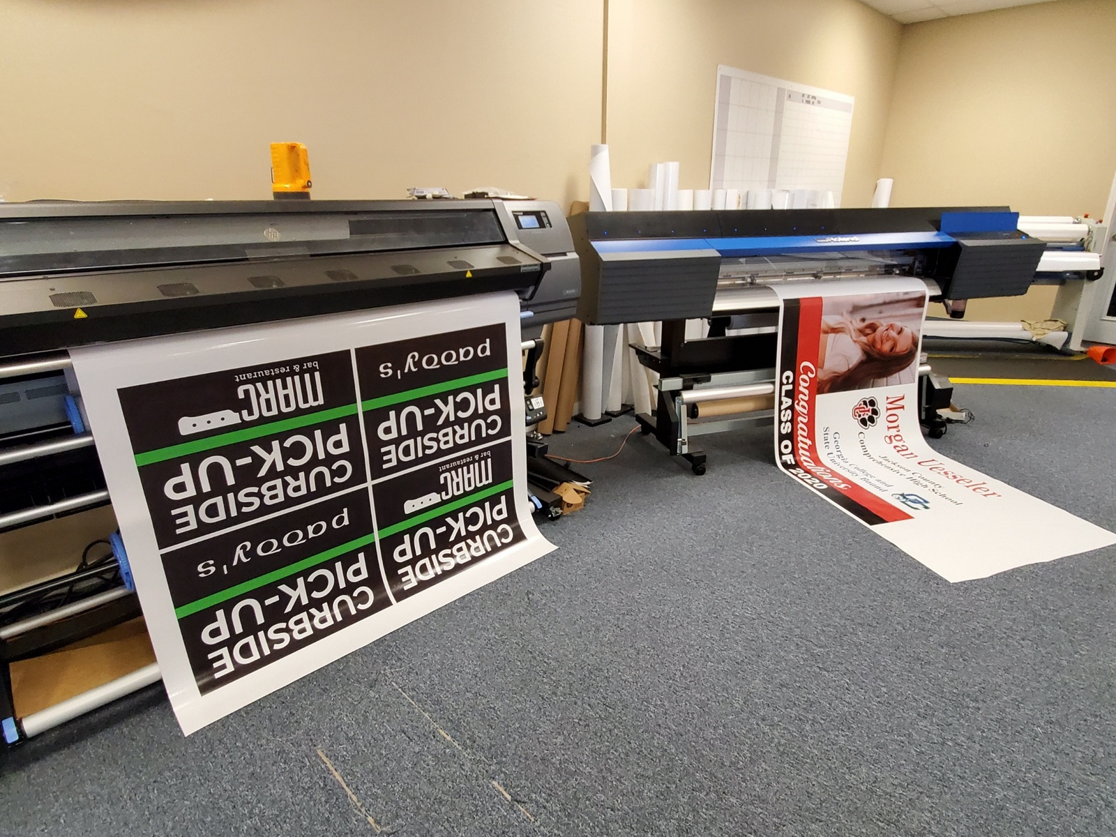 Banners in production