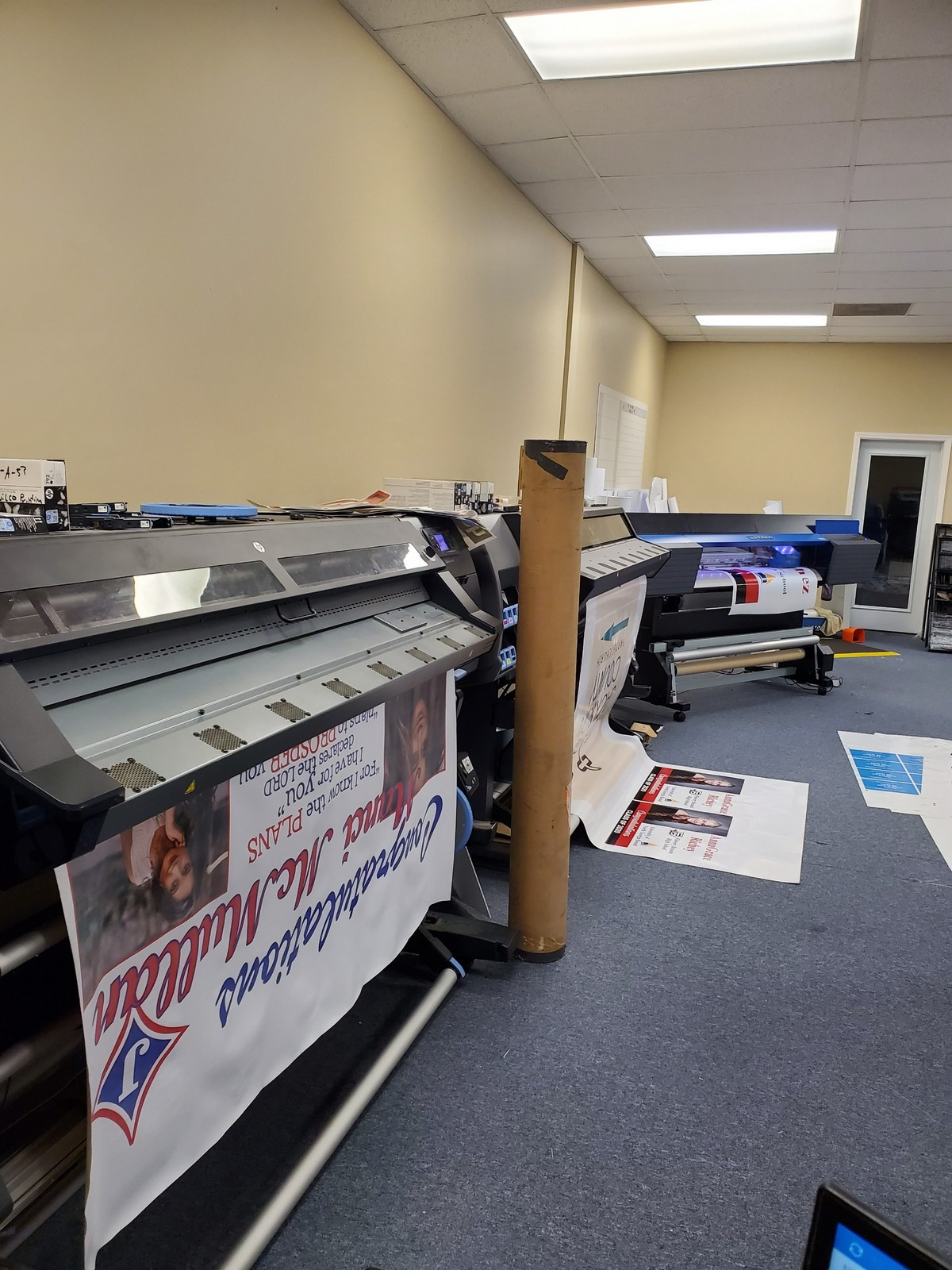 Banners being printing